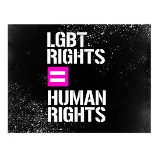 LGBT Rights equals Human Rights - - LGBTQ Rights - Postcard