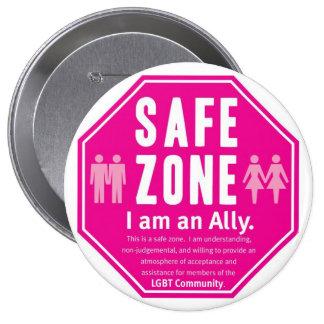 LGBT Safe Zone 4 Inch Round Button