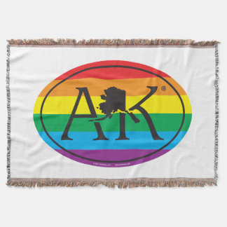 LGBT State Pride Euro: AK Alaska Throw Blanket