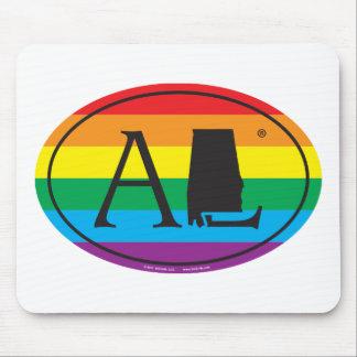 LGBT State Pride Euro: AL Alabama Mouse Pad