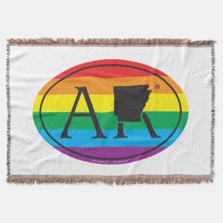 LGBT State Pride Euro: AR Arkansas Throw Blanket
