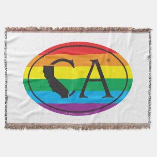 LGBT State Pride Euro: CA California Throw Blanket