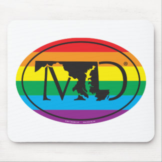 LGBT State Pride Euro: MD Maryland Mouse Pad