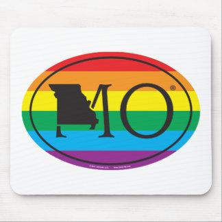 LGBT State Pride Euro: MO Missouri Mouse Pad