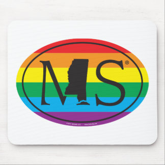 LGBT State Pride Euro: MS Mississippi Mouse Pad