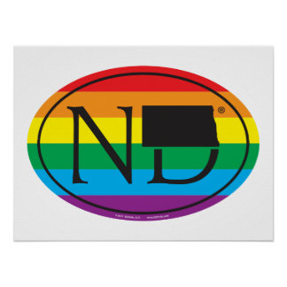 LGBT State Pride Euro: ND North Dakota Poster