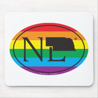LGBT State Pride Euro: NE Nebraska Mouse Pad