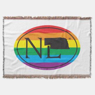 LGBT State Pride Euro: NE Nebraska Throw Blanket