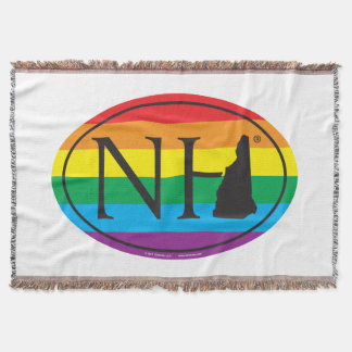 LGBT State Pride Euro: NH New Hampshire Throw Blanket