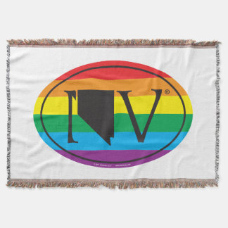 LGBT State Pride Euro: NV Nevada Throw Blanket