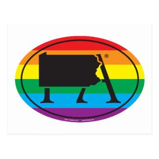 LGBT State Pride Euro: PA Pennsylvania Postcard