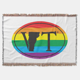 LGBT State Pride Euro: VT Vermont Throw Blanket