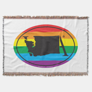 LGBT State Pride Euro: WA Washington Throw Blanket