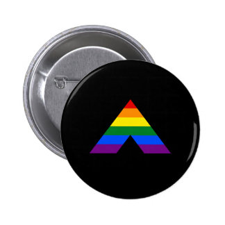 LGBT straight ally pyramid symbol 2 Inch Round Button