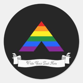 LGBT straight ally pyramid symbol Round Sticker