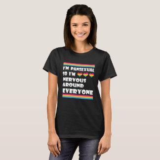 LGBT T-Shirt I'm Pansexual So I'm Nervous Around
