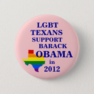 LGBT Texans for Obama 2012 2 Inch Round Button