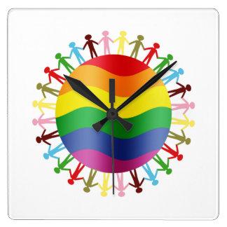 LGBT World Harmony Wall Clocks