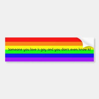 LGBTQ Gay Pride Rainbow Flag Bumper Sticker