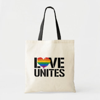 LGBTQ LOVE UNITES - - LGBTQ Rights -  Tote Bag