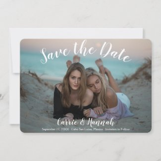 LGBTQ Photo Wedding Save The Date