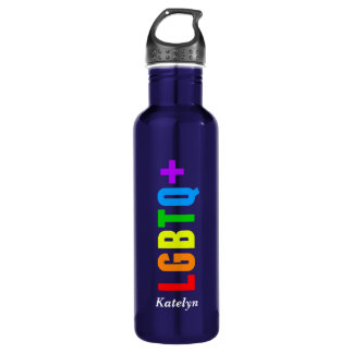 LGBTQ Plus Rainbow Pride 710 Ml Water Bottle