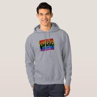 LGBTQ PRIDE CALLIGRAPHY - PAINTED LGBTQ PRIDE FLAG HOODIE
