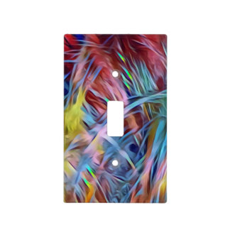 LGBTQ Rainbow Colorfull  Strands Light Switch Cover
