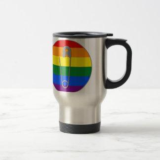 LGBTQ Safety Pin Travel Mug