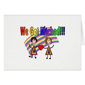 LGBTQ - We Got Hitched Wedding Announcement