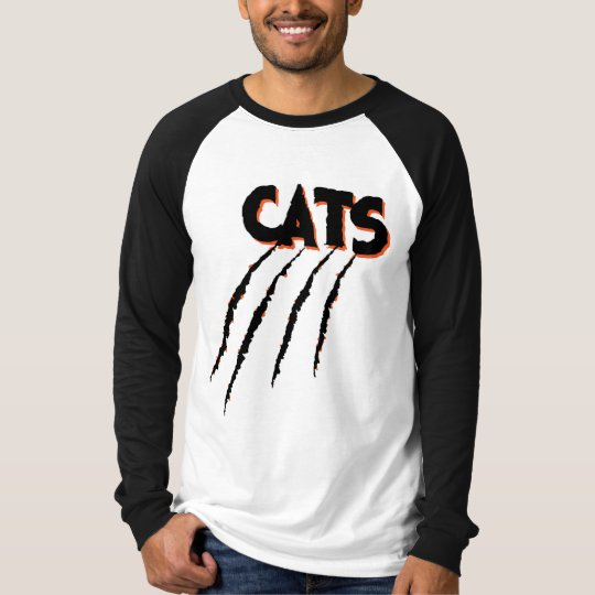 LGHS Wildcats Catscratch Logo Baseball Long Sleeve T-Shirt