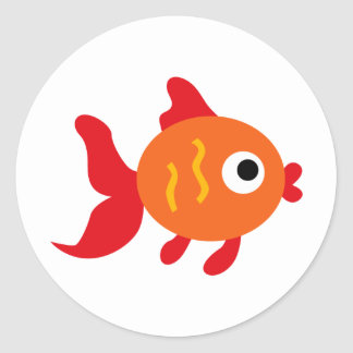 LGoldfishP3 Classic Round Sticker