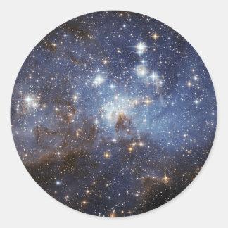 LH 95 Star forming region NASAs Round Sticker