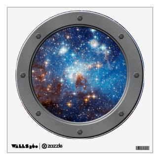 LH 95 Star Forming Region Porthole Window View Wall Sticker