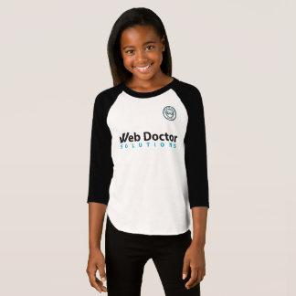 L'habillement américain des filles 3/4 T-shirt de
