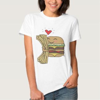 L'hamburger aime des fritures tee-shirt