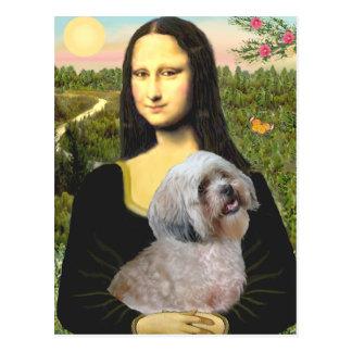 Lhasa Apso 10 - Mona Lisa Postcard