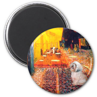 Lhasa Apso 10 - Terrace Cafe 2 Inch Round Magnet