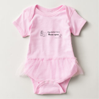 lhasa apso baby bodysuit