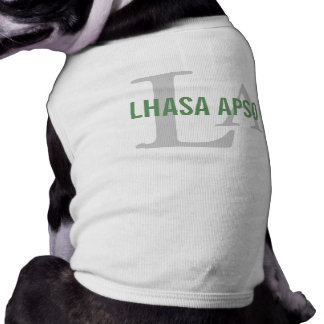 Lhasa Apso Breed Monogram Pet Tshirt