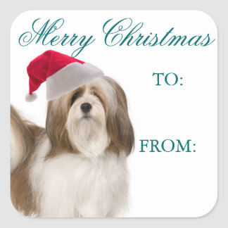 Lhasa Apso Christmas Gift Tags