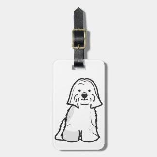 Lhasa Apso Dog Cartoon Bag Tag
