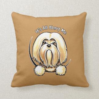 Lhasa Apso IAAM Throw Pillow