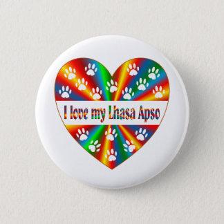 Lhasa Apso Love 2 Inch Round Button