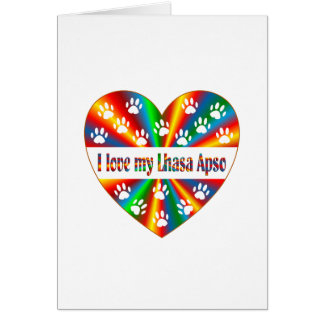 Lhasa Apso Love Card