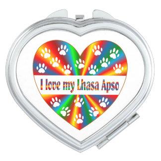 Lhasa Apso Love Compact Mirror