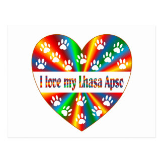 Lhasa Apso Love Postcard