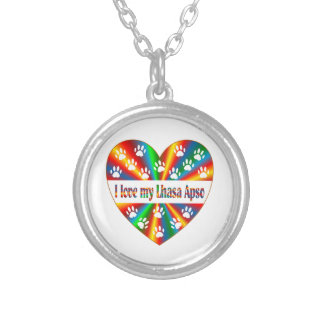 Lhasa Apso Love Silver Plated Necklace