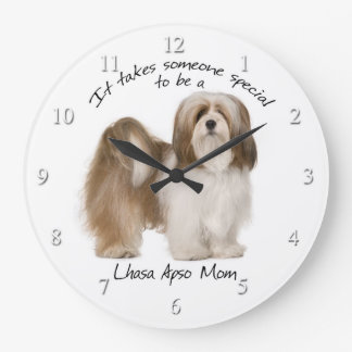 Lhasa Apso Mom Clock