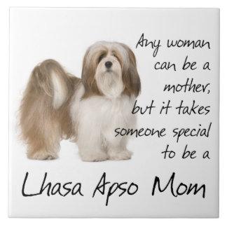 Lhasa Apso Mom Tile